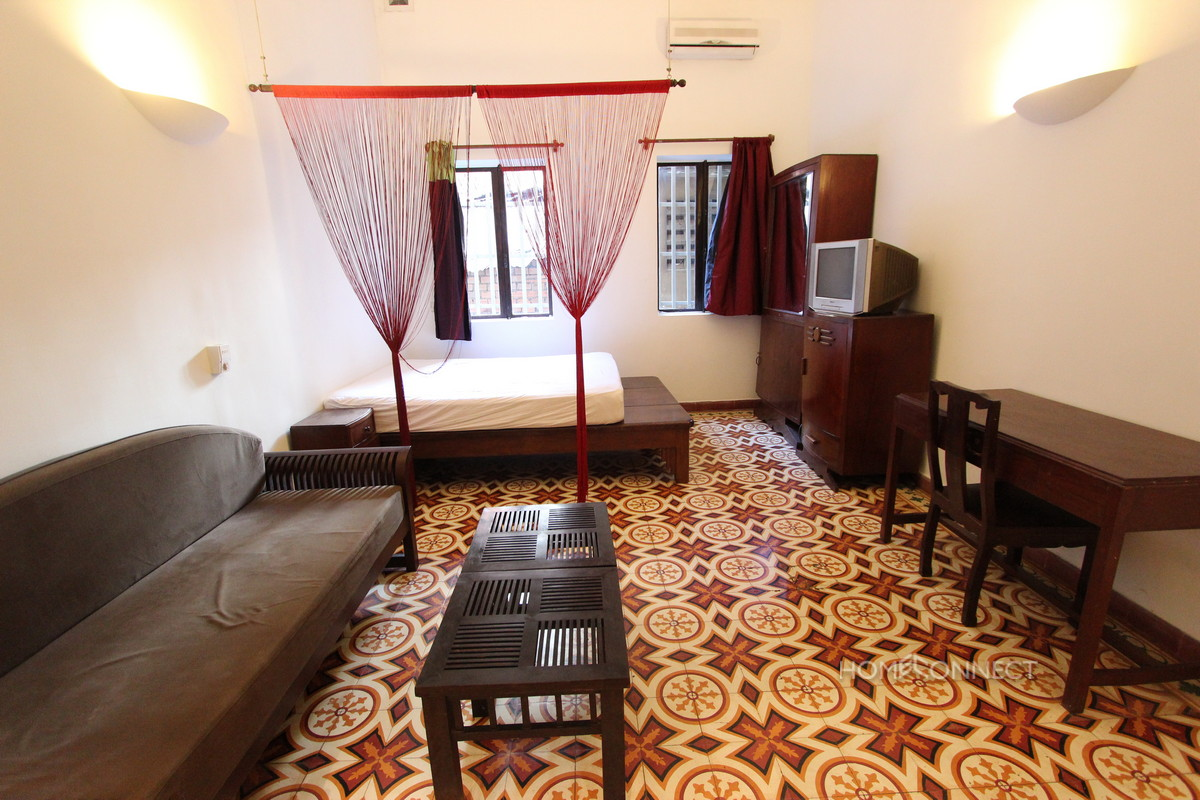 French Colonial 1 Bedroom Apartment For Rent On Riverside Phnom Penh Apartments Villas