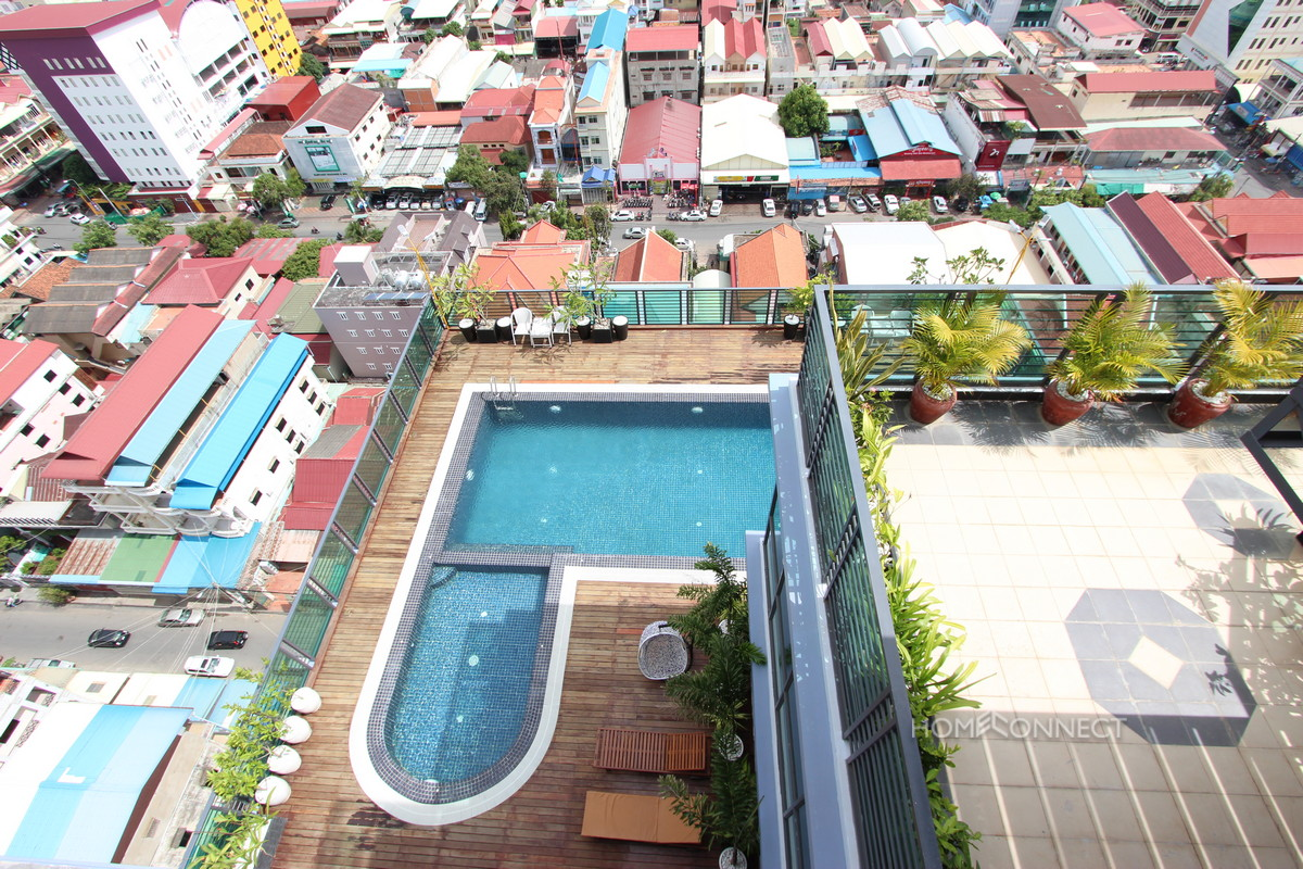 New 1 Bedroom Western Style Apartment For Rent In BKK3 | Phnom Penh Real Estate