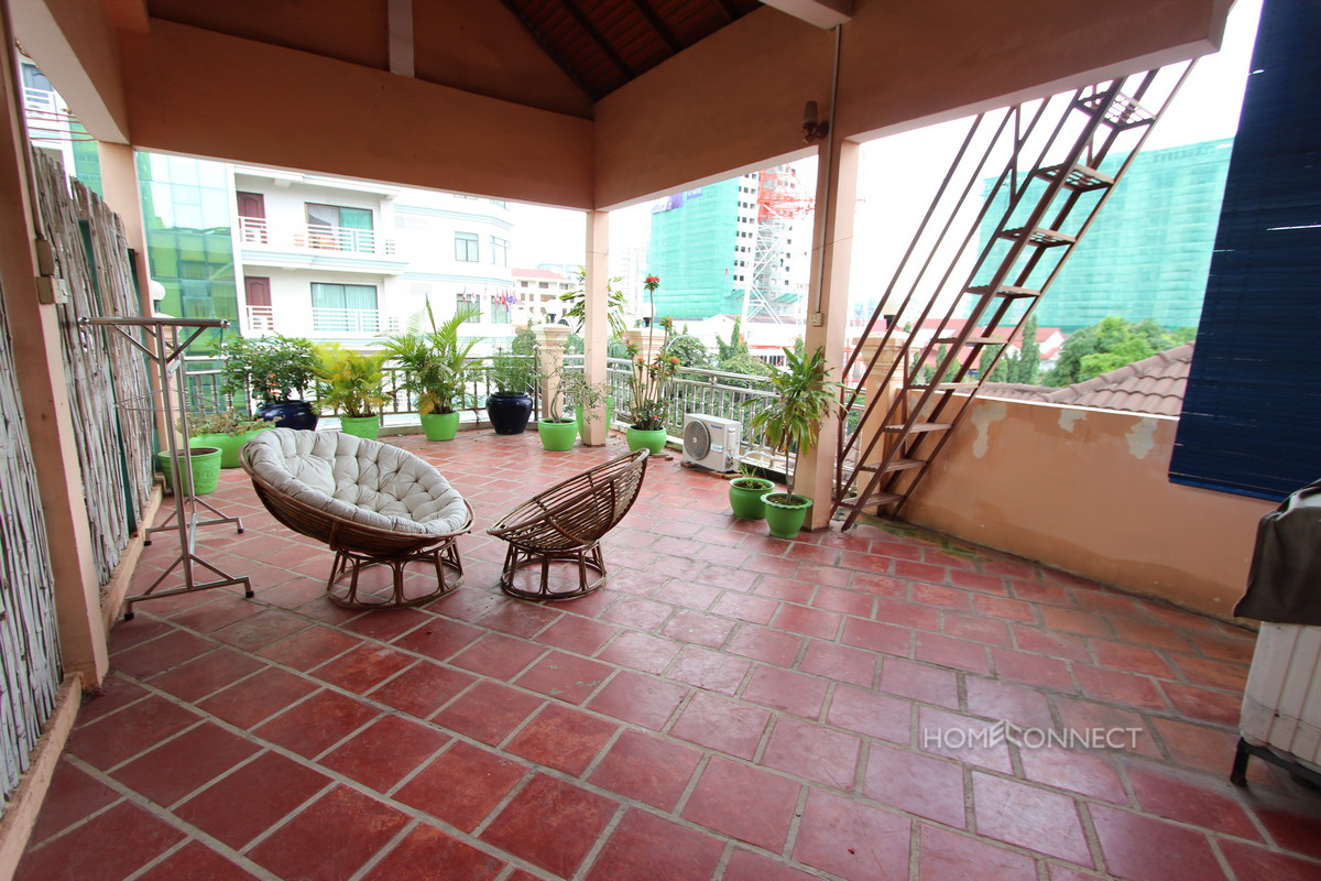 Large Terrace 2 Bedroom Apartment In BKK1 | Phnom Penh Real Estate