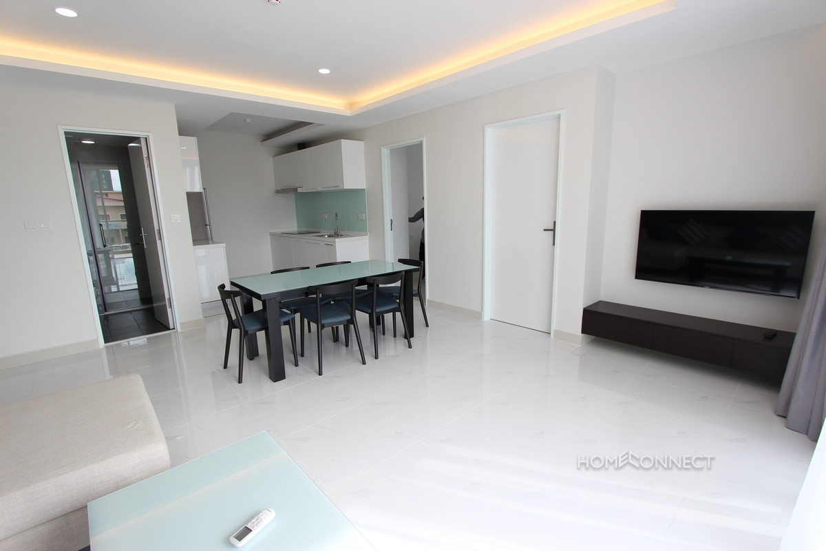 Modern contemporary 2 bedroom apartment in bkk1 phnom for Modern 1 bedroom apartments