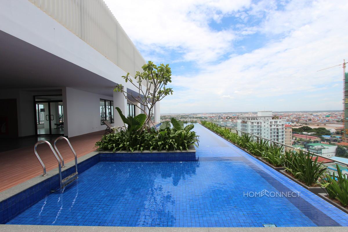 Stunning Modern 1 Bedroom 1 Bathroom Apartment in Tonle Bassac   Phnom Penh Real Estate