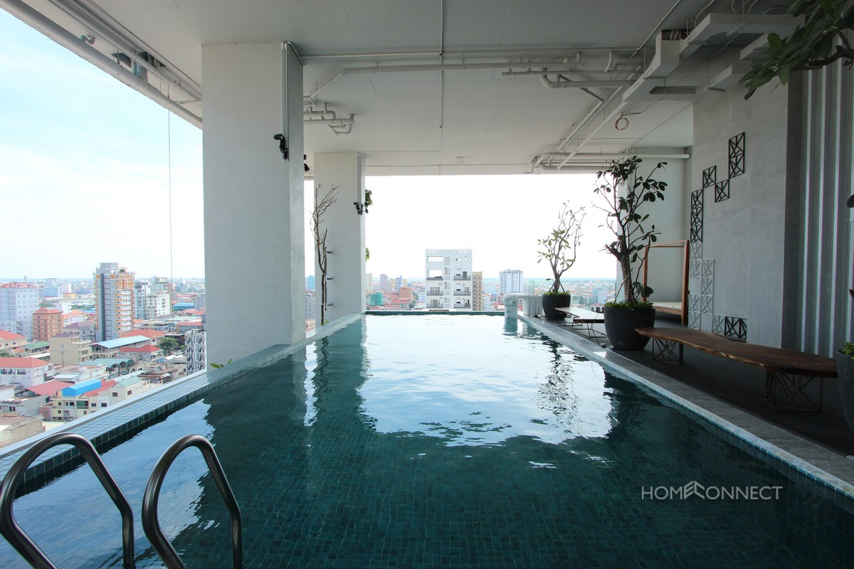 Modern Serviced 1 Bedroom 1 Bathroom Apartment for Rent in Russian Market | Phnom Penh Real Estate